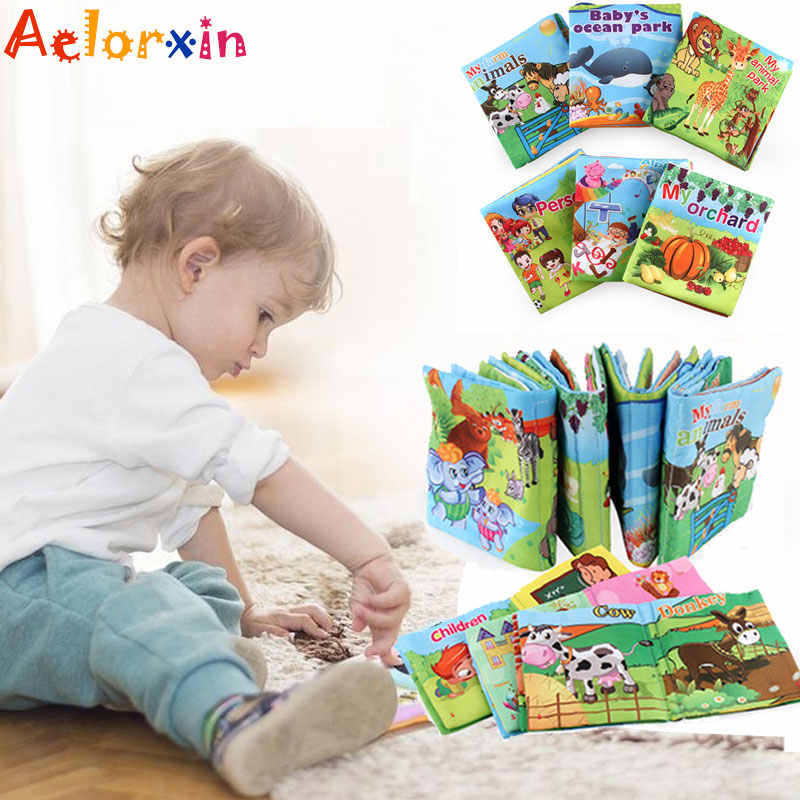 Infant Baby Soft Cloth Book Toy Educational Cognitive Learning Newborn Toy Early Learning Educate Baby Toys Stroller