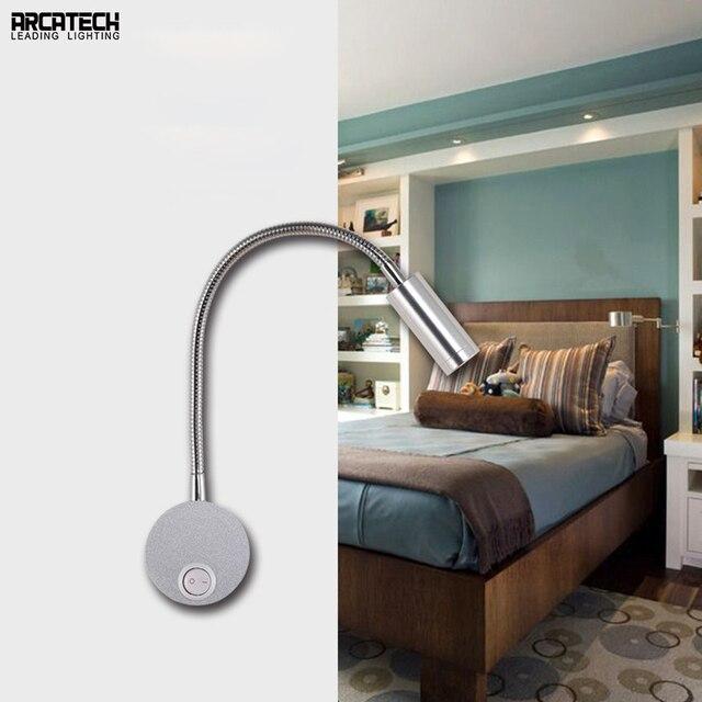 Simple Led Bedside Lamp Wall Bedroom Hotel Room Reading Hose Light At 20
