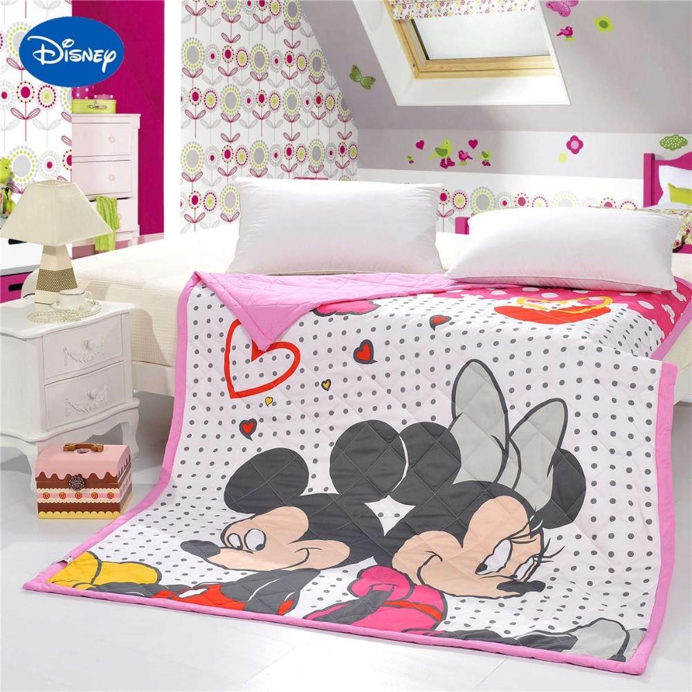 Adorável Mickey Minnie Mouse Colchas Edredons Cama Capa de Algodão