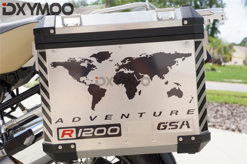 Pack of 2PCS 1 PAIR Motorcycle Side Box Sticker Decals for R1200GS F800GS TOURATECH GSA ADV