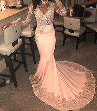 African Mermaid Prom Dresses 2019 Sexy Lace Appliques Evening Gowns Sweep Train Formal Party Dress Custom
