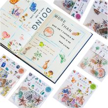40pcs/pack cute cartoon small adhesive decorative scrapbooking sticker children dairy stationery packing label