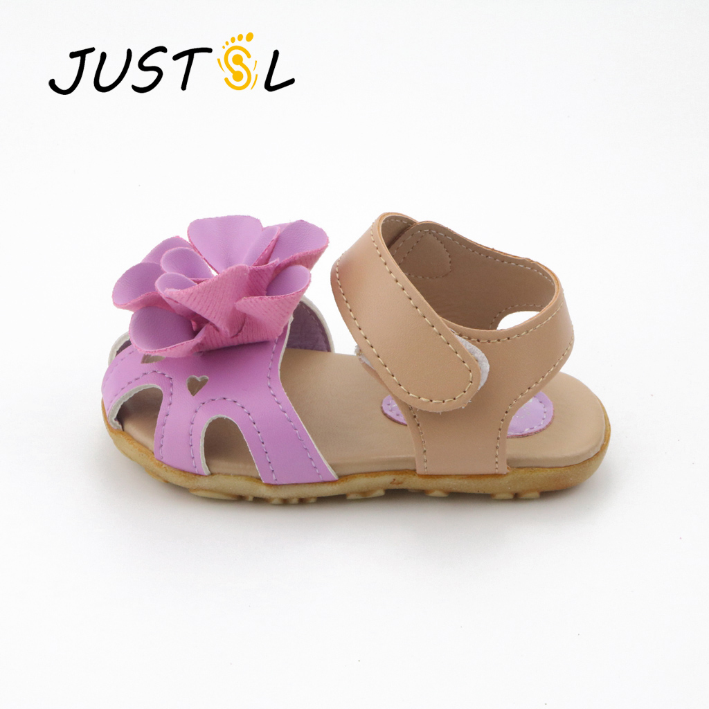 Girl sandals 2017 summer flowers soft soled shoes baby ...