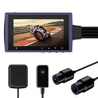 Motowolf K91 Motorcycle Camera Driving Recorder Waterproof Dual Lens 1080P Dash Cam DVR Support GPS G sensor 256G TF cards