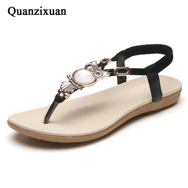 e10e303003c1d2 Detail Feedback Questions about Quanzixuan Women Sandals Flip Flops Casual  Flat Sandals Fashion Women Shoes Owl 2018 Spring Summer Beach Sandals on ...