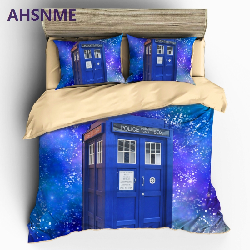 AHSNME Home Textile Doctor Tadis Style Sanding King size Bedding Set Duvet Cover Doctor Who Quilt