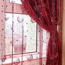 Butterfly 3D Tulle rlinds lace Sequin curtains
