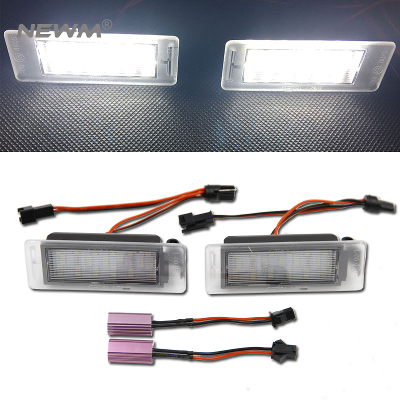 2pcs Number Plate Light LED Bulbs Replacement for Cadillac XTS Chevrlet