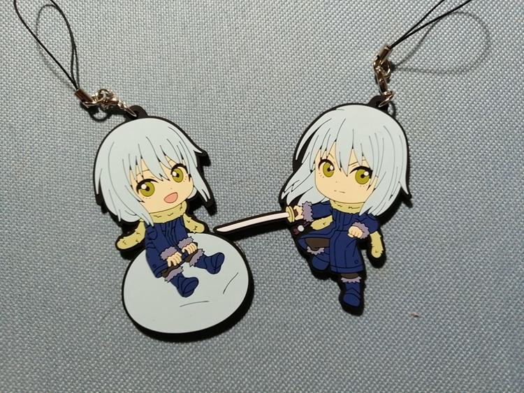 Toys & Hobbies Hot Sale 1pcs Japanese Anime Figure Rubber Tensei Shitara Slime Datta Ken Rimuru Tempest Heroine Keychain Anime Keychain Phone Charm
