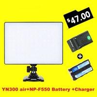 Ulanzi YONGNUO YN300 YN-300 מיזוג Pro אוויר 3200 k-5500 k LED מצלמה אור וידאו עם NP-F550 סוללה ומטען עבור Canon ניקון