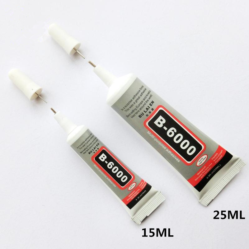 2pcs 15ML 25ML B6000 Liquid Super Glue Nail Gel DIY Jewelry Crystal Rhinestone Multipurpose Adhesive Fix Phone Screen Glass Tool