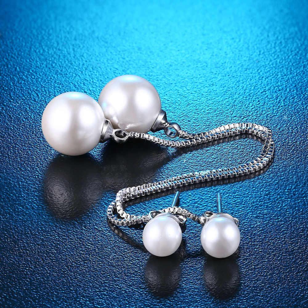 ארוך פרל Drop עגילים לנשים טאסל עגיל שוליים עגילי 925 כסף סטרלינג תכשיטי חריש Brincos Brinco אהבה מתנה