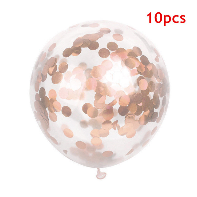 1st Birthday Decoration Rose Gold Confetti Balloon 20pcs Latex Ballon Baloons Happy Birthday Adult Kids Baby Shower Girl Decor in Ballons Accessories from Home Garden