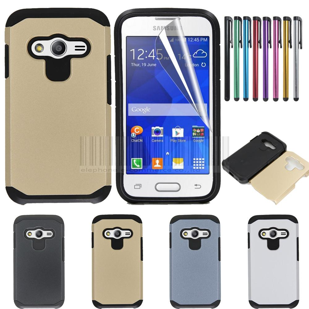 Hatoly For Cover Samsung Galaxy Ace 4 Neo Case G313 G318 Heavy Duty Cassing Casing Housing G313h V Fullset Lite Ace4 G318h Sm Armor