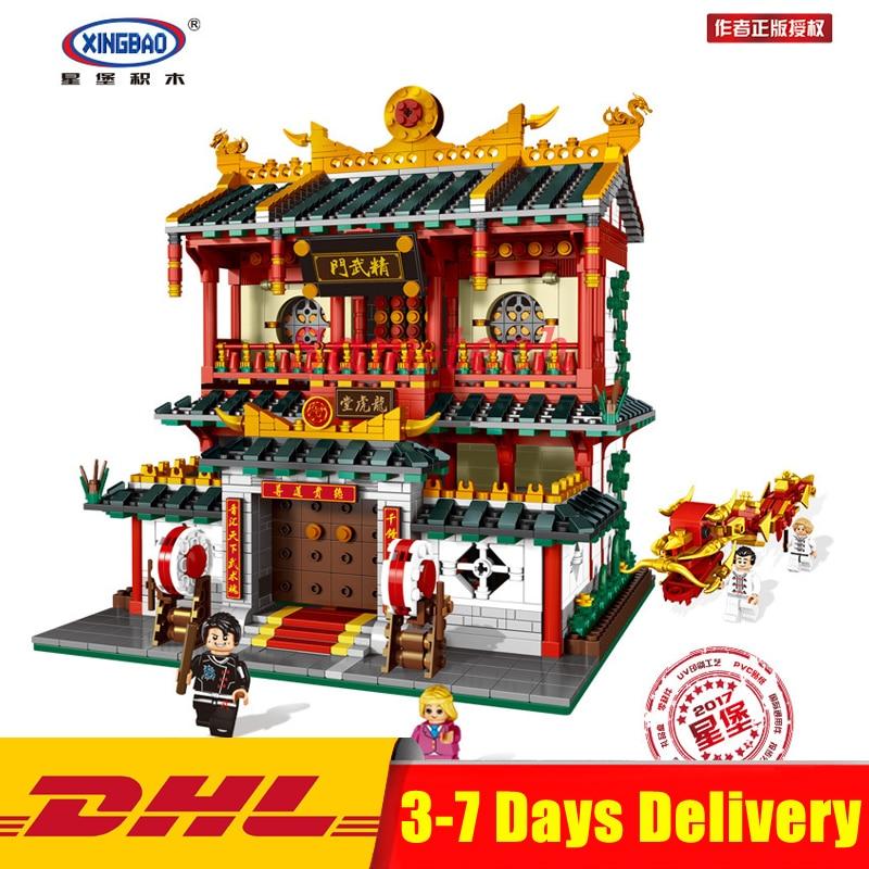 IN STOCK XINGBAO 01004 2531Pcs Genuine Creative Building Series The Chinese Martial Arts Set Building Blocks Bricks Toys Model