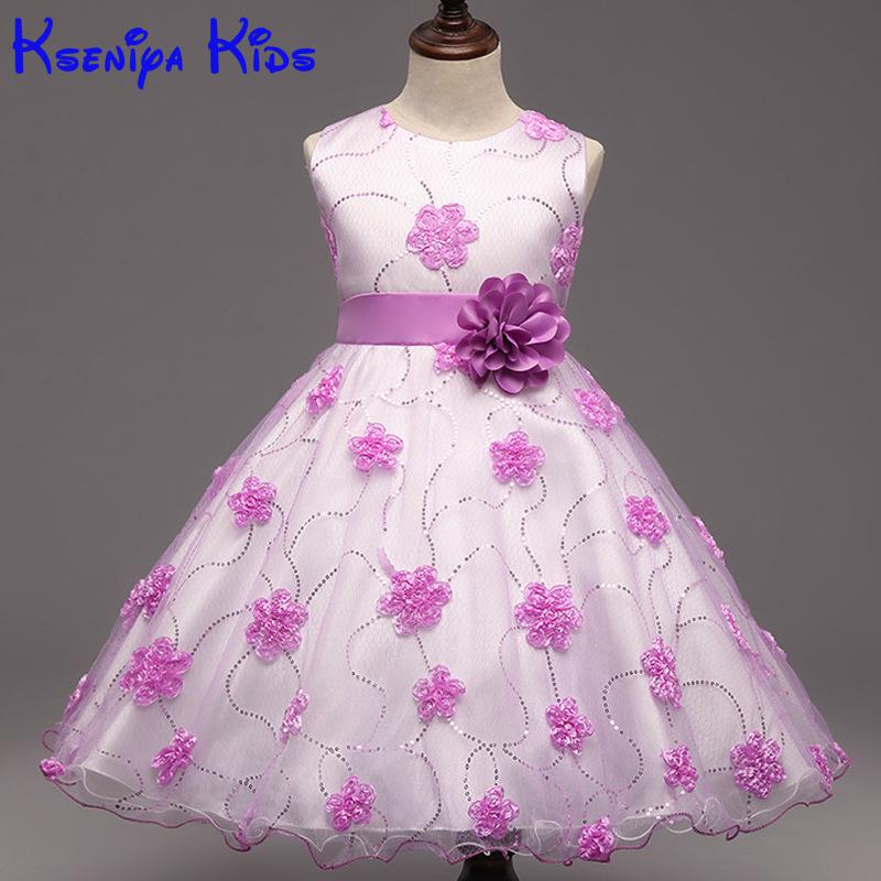 New Flower Girls Wedding Formal Bridesmaid Party Dress Baby Girl Dress Kids Dresses For Girls Dresses For Girls 10 High Quality 2017 new high quality kids princess dress for baby girls flower fairy costume kids party christmas dresses for girls