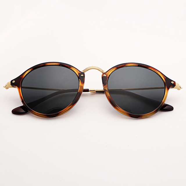 c066f6c34bf2 Bolo.ban round fleck polarized sunglasses women men 49mm glass lens mirror  tortoise sun glasses oculos de sol Gafas UV400