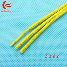 Heat Shrink Tube Yellow Tube Heat-Shrink Tubing Diameter 2mm Thermo Jacket Wire Wrap Insulation Materials  Element 1meter /lot
