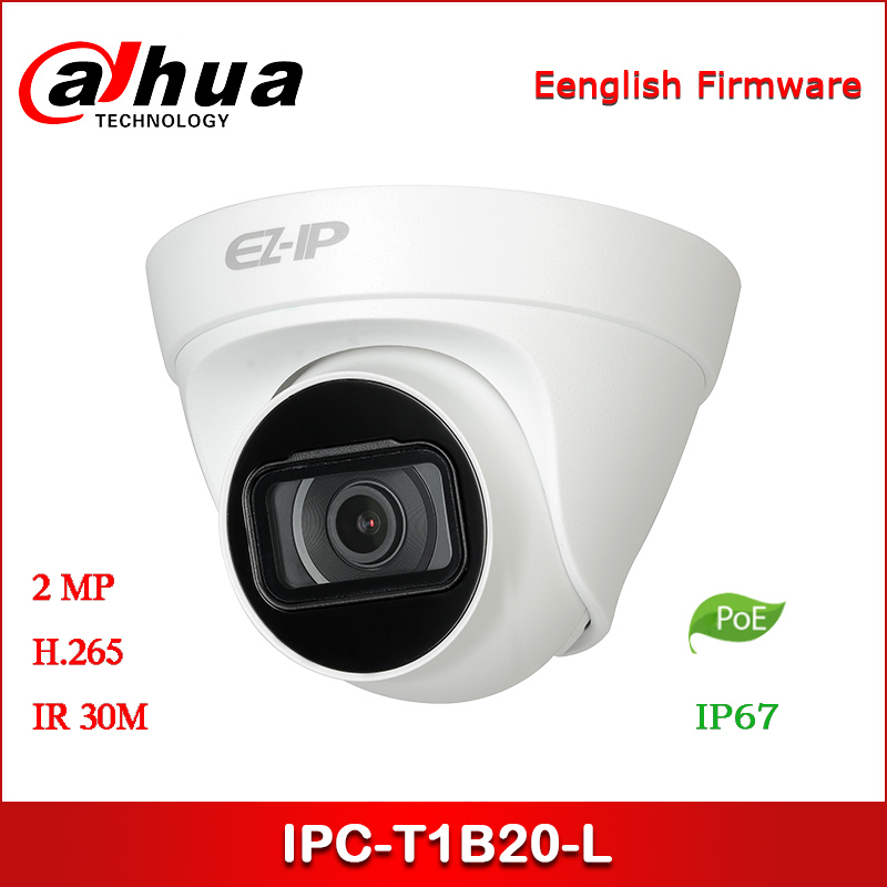 Dahua IP Camera IPC-T1B20-L 2MP 2.8mm 3.6mm Fixed lens IR Turret Network Camera with POE Security Camera IPC-HDW1230T1-L