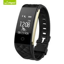 Leegoal S2 Смарт Браслет с сердечного ритма шагомер IP67 Водонепроницаемый SmartBand браслет для Android IOS Телефон