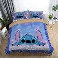 Наборы постельных принадлежностей Disney Stitch  пододеяльник с рисунком королевского размера  наволочка  пододеяльник  набор для детей и взросл...