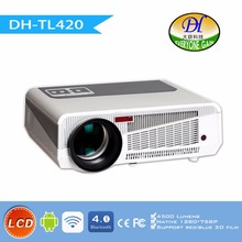 DH-TL420 Newest Dynamic 4500 Lumens Android 4.4 220W LED Full HD Smart Projector 3D led Wifi Multimedia Home Projector 1920*1080