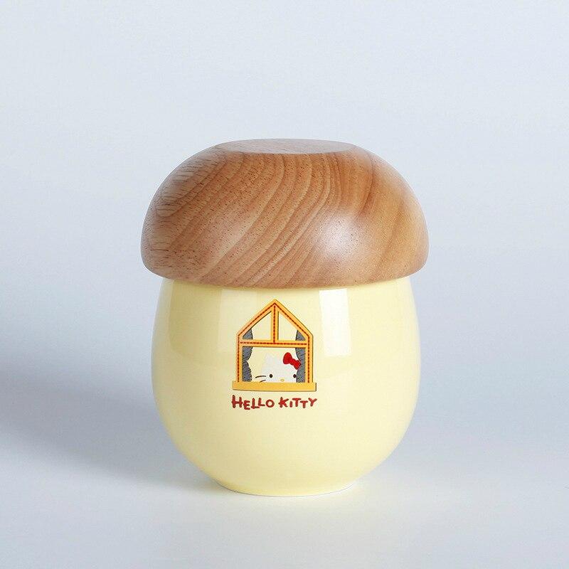 Hot Originality Lovely Hello Kitty Cat Mushroom House Modeling Design Muumi Cup Coffee Tea Milk Juice Mug Lid Cover Caneca Copo