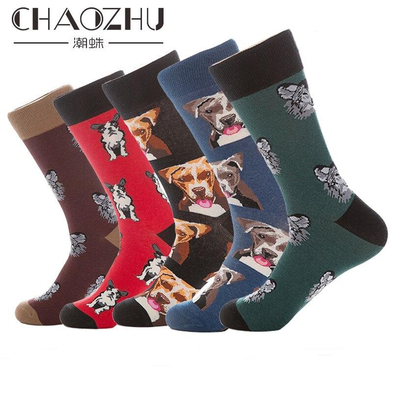 Neueste Kollektion Von Neue Ankunft Glücklich Socken Männer Hohe Crew Socken Lange Winter Herbst Mode Fancies Bulldog Labrador Bully Hund Wolf Muster Kühlen Socke