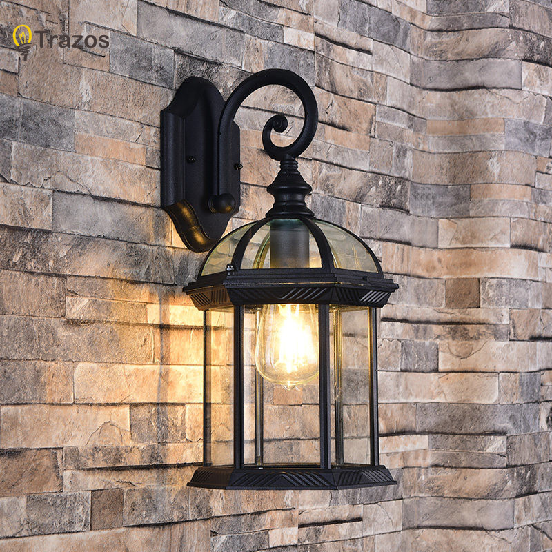 Retro Wall Lamp European Vintage Style Kerosene Lamps Beside Light For Bar Coffee Shop Bathroom Home Led Lights loft american edison vintage industry crystal glass box wall lamp cafe bar coffee shop hall store club