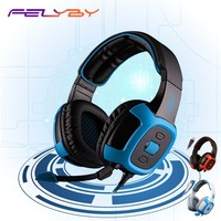Felyby SA906i Game Headset Headset Usb Desktop Computer Gaming Headset Met Microfoon