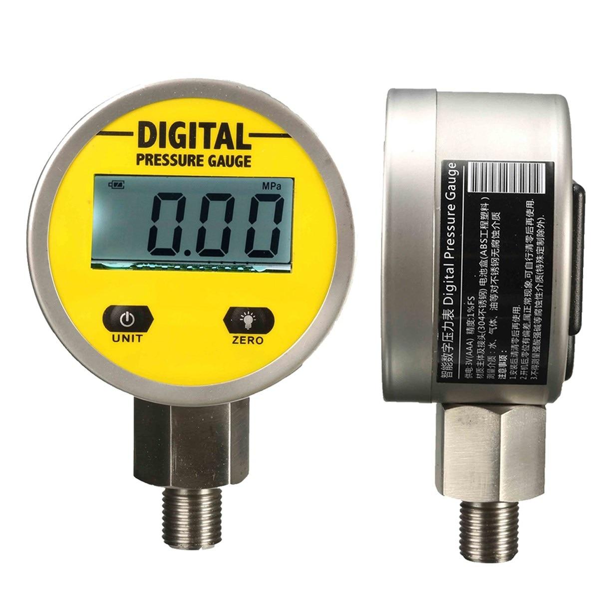 Digital Hydraulic Pressure Gauge 0-250BAR/25Mpa/3600PSI (G/4) -Base Entry