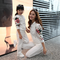 Mom And Daughter Clothing Sets Family Matching Outfits Autumn Winter Fashion Print Costume Mother Daughter Clothes