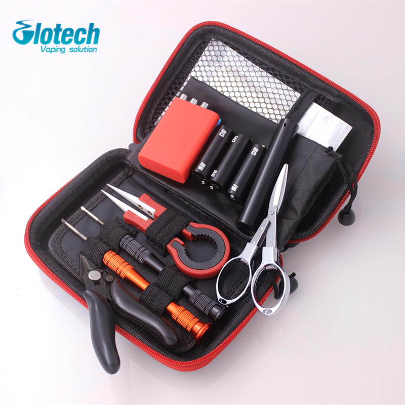 Glotech newest vape DIY tools kits coil jig ceramic tweezers wire coiling tools for E cigarette RBA RDA Atomizers DIY vaporizer new magic stick cw tool coil vape complete kit e cig master 6 in 1 diy jig vape tool kit pe box ecig rda tool kit atomizer coil