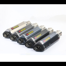 Motorcycle scooter 51mm modified exhaust pipe inclined hexagonal carbon fiber straight row back pressure