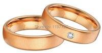 Мужского покроя классические розы цвет золотистый titanium Настройки обручальное кольцо для него и для нее