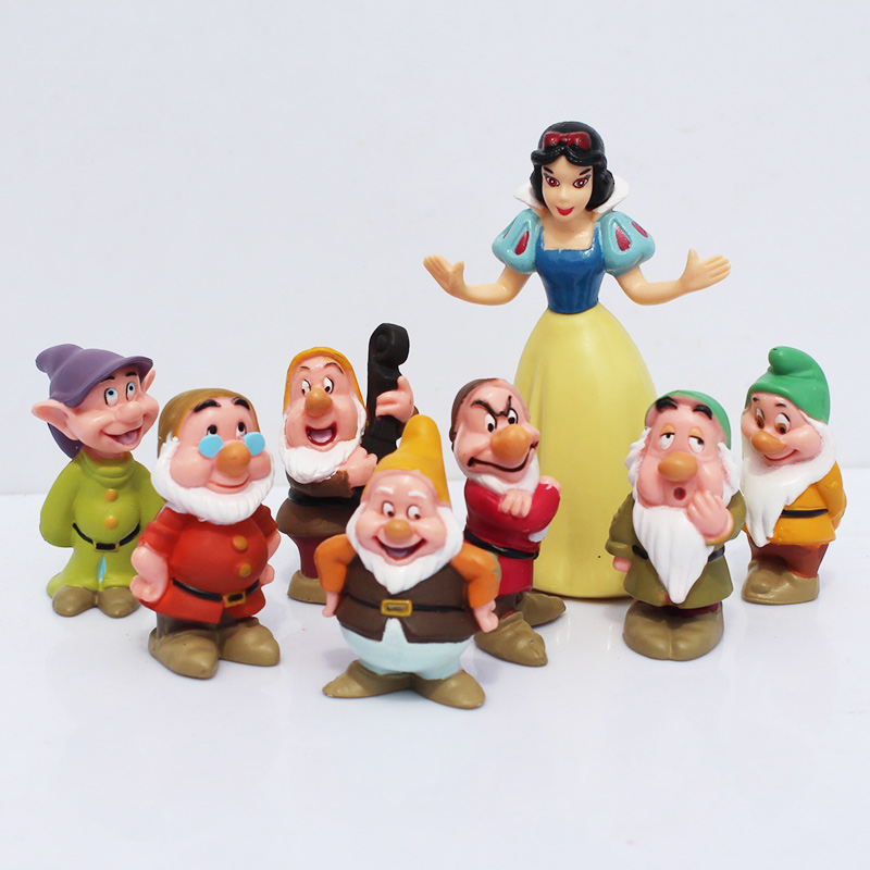 8pcs/lot Snow White And The Seven Dwarfs Toys Cartoon Anime PVC Action Figure Snow White Doll snow white and the seven dwarts сказки 3d