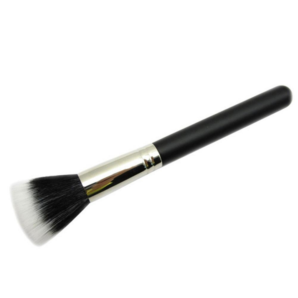 Image 5 - New Cosmetic Powder Brush Skin Care Black 187 Duo Fiber Stippling Mineral Blush Foundation Powder Beauty Brush Makeup Tools-in Eye Shadow Applicator from Beauty & Health