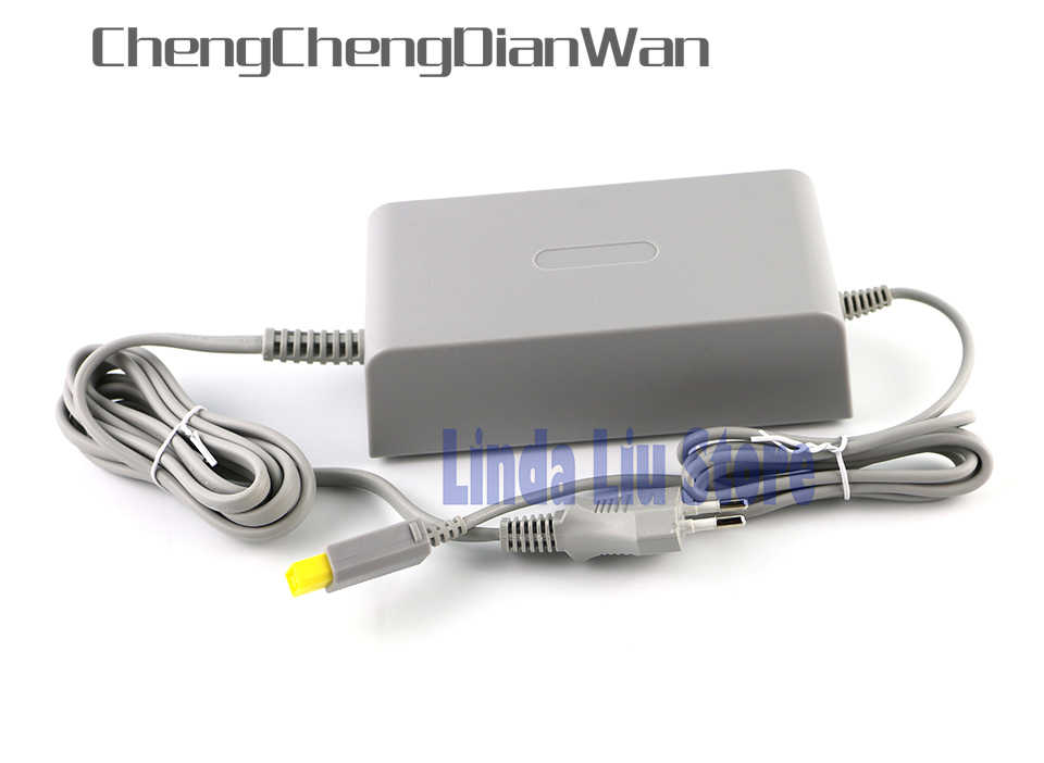 ChengChengDianWan EU plug Home Wall Power Supply AC Charger Adapter kabel untuk Nintendo Wii U WiiU Konsol 100-240 V DC 15 V 5A
