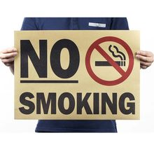 No Smoking Vintage Poster Kraft Paper Painting Pared Home Decor Retro Decorative Painting Posters And Prints Wall Stickers(China)