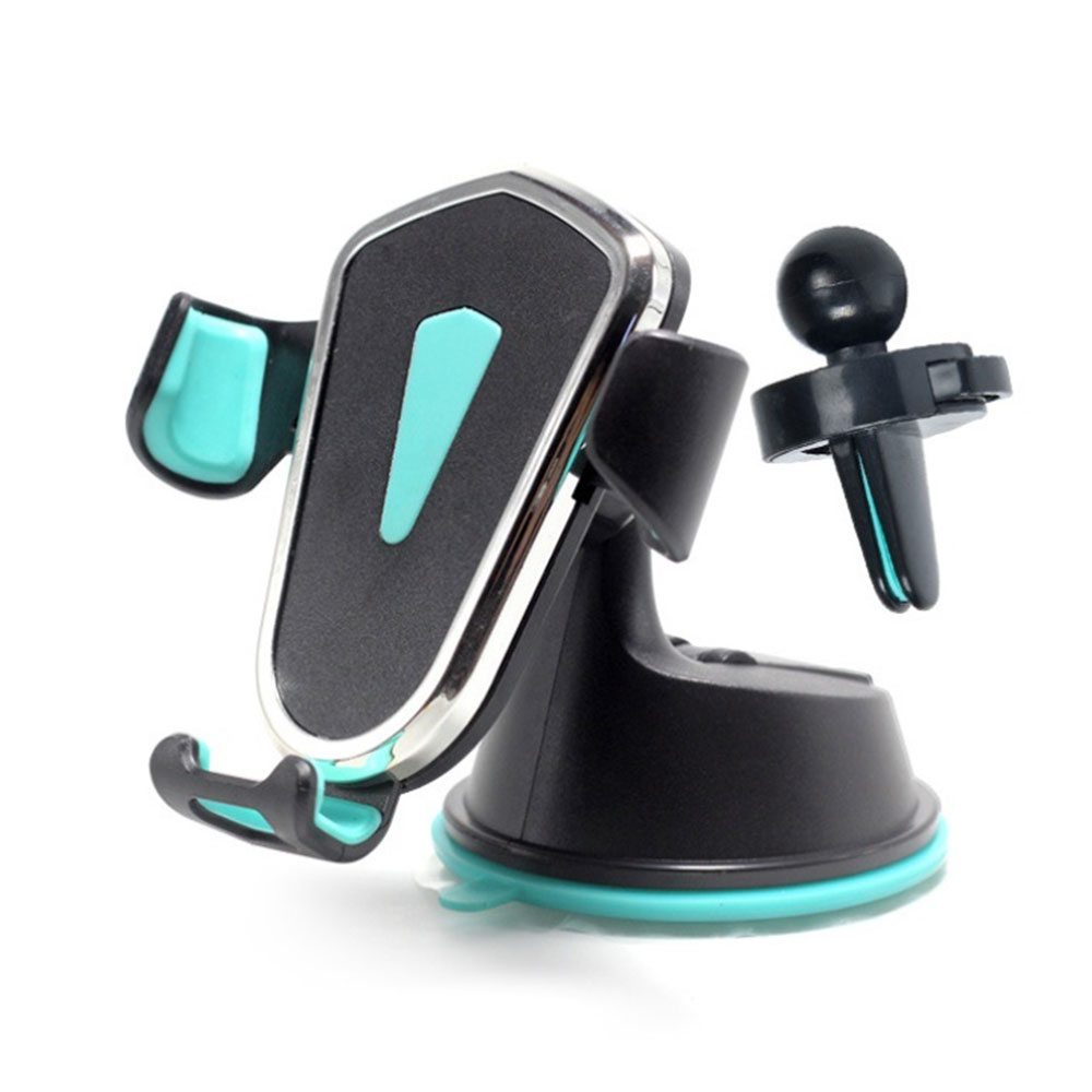 Держатель для gps Автомобильный держатель для телефона универсальный автомобильный держатель для смартфона держатель HUD дизайн 2в1 автомобильный вентиляционный вентилятор Регулируемый 360 ° - Цвет: Blue