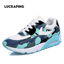 Women's Running1 Shoes Low Flat With air-cushioned Shoes Gump Shoes Tide Female Korean Student Camouflage sport1 Casual Shoes