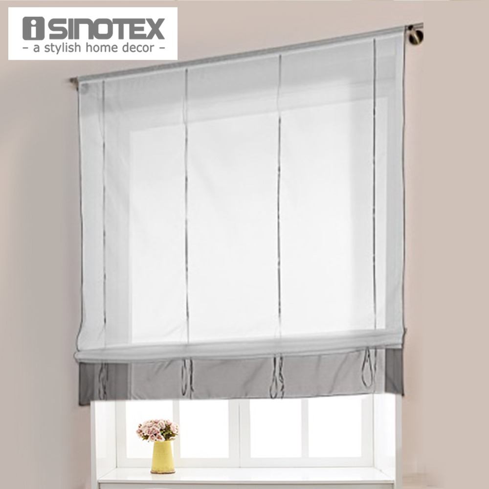 Height Adjustable Roman Curtain Hot Ready Made Curtains For Kitchen Window  100% Polyester 1
