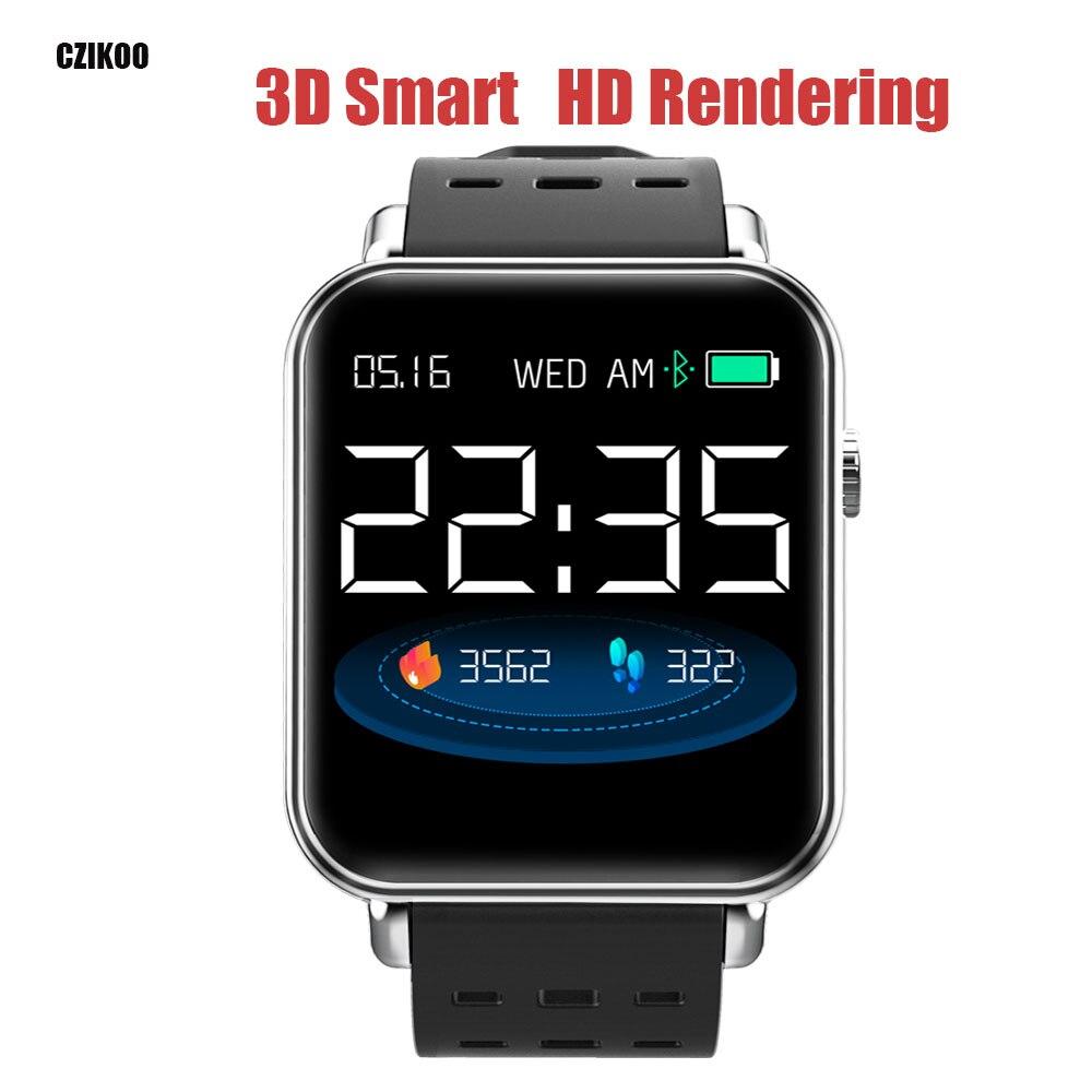 3D Smart bracelet Moniteur de Fréquence Cardiaque Bracelet Fitness IP67 bracelet pour Android iOS PK xio mi mi Bande 2 3 fitbits smart watch