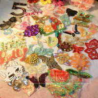 Super Substantial About 30 Pieces Beads Sequined Patches Luxury Beautiful Letter Floral Cartoon Number Garment Appliques