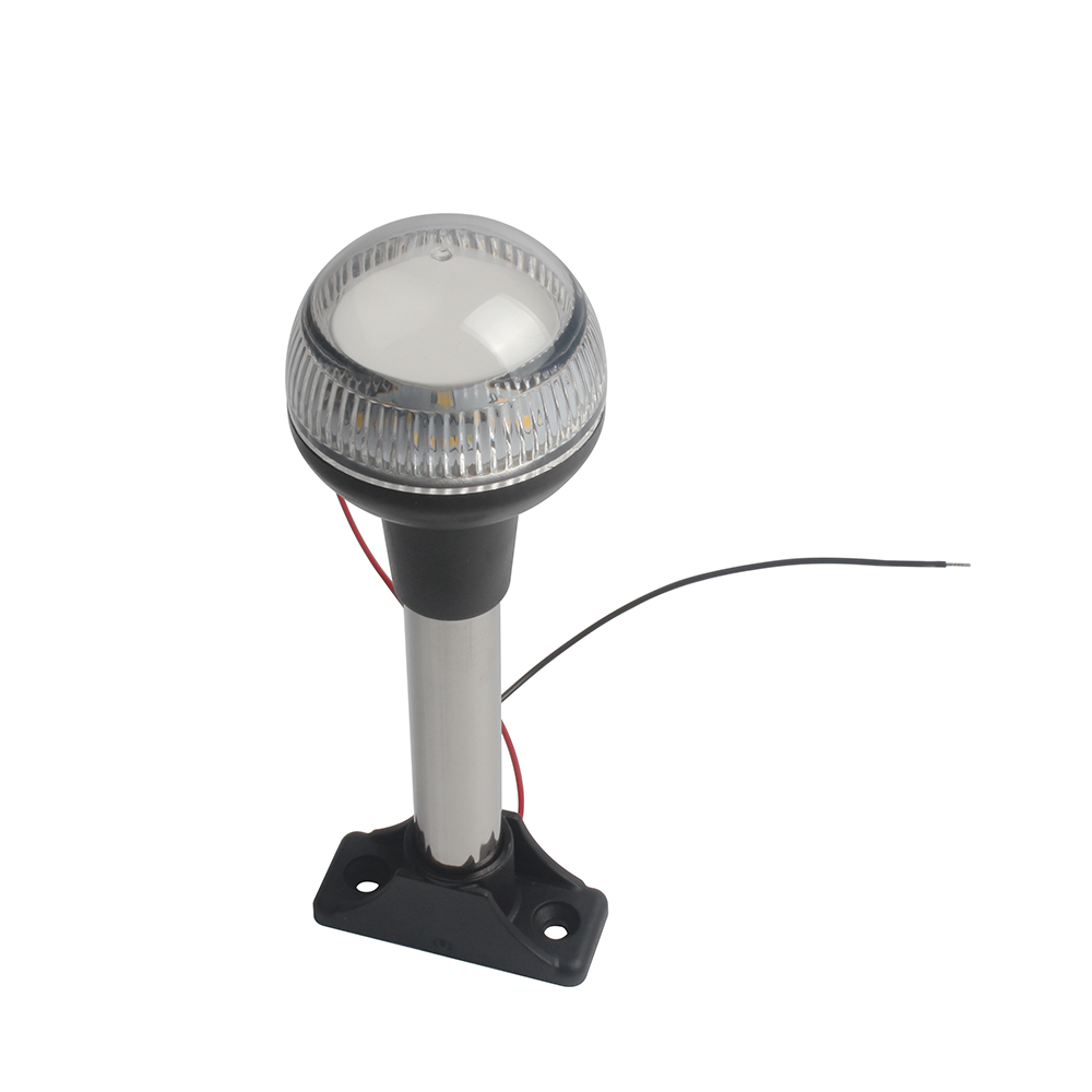 12V Marine Navigation Light Yacht Boat White LED Stern Anchor Light All Round 360 Degree Light 186MM