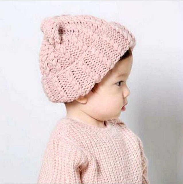 44997429c3b27 placeholder Autumn Winter Warm Hat Newborn Photography Props Toddler Kids  Girl Boy Baby Infant Winter Warm Crochet Knit