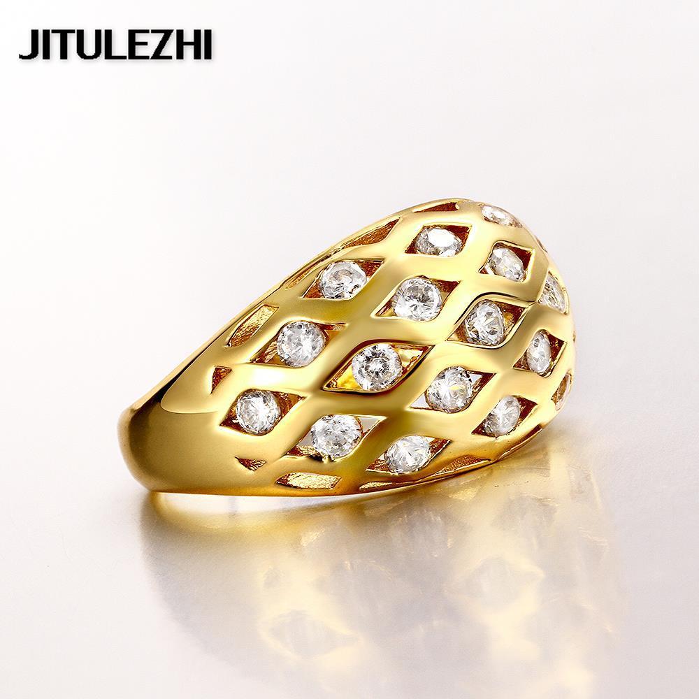 Amarillo Oro anillos de color para damas anillo de bodas de piedra ...