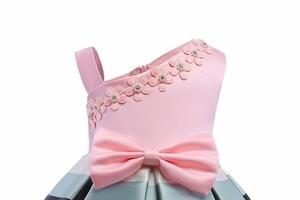 Image 3 - HAPPYPLUS 스트라이프 아이 드레스 여자를위한 패션 아이 드레스 저녁 무도회 한 어깨 핑크 드레스 소녀 공주 여름 2018