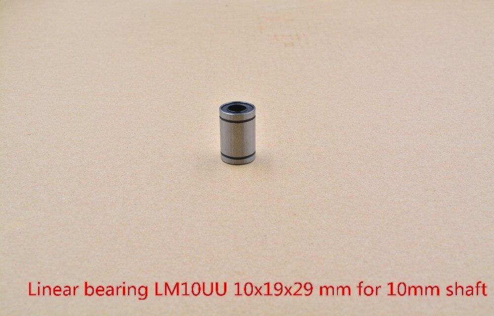 LM10UU 10mmx19mmx29mm LM10UUAJ 10mm Linear Ball Bearing Bush Bushing For 10mm Rod Round Shaft 1pcs