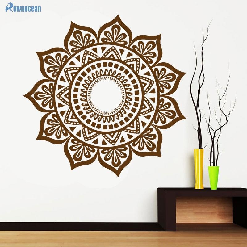 Custom Color Mandala Үнді Үстел Yoga Wall Stickers - Үйдің декоры - фото 3